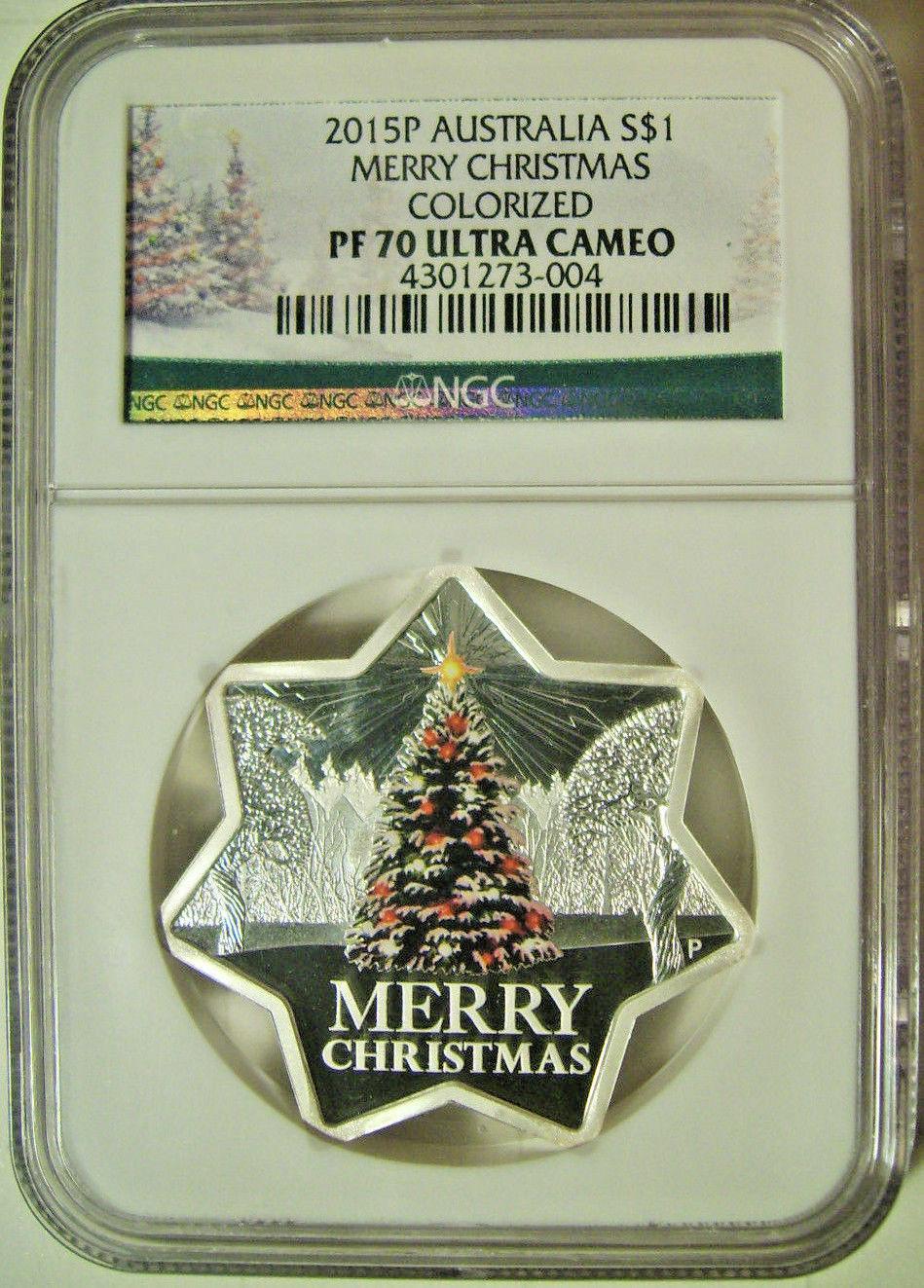 Australia Christmas Tree 2016 1oz Star Shaped Silver Proof $1 Coin